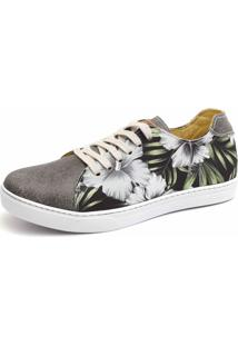 Sapatênis Shoes Grand Beach Floral Com Grafite