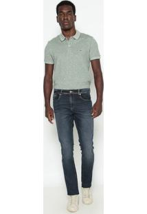 Polo Regular Fit Com Linho- Verdelacoste