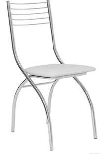 Cadeira Carraro 146 Aço Cromada (2 Unidades) Cromada/Branco