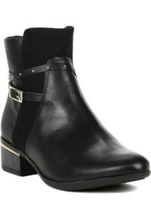 Bota Ankle Boots Feminina Comfortflex Preto - Feminino
