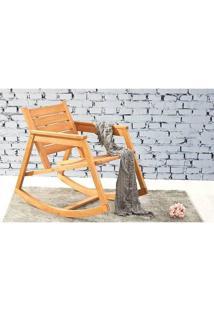 Cadeira Balanço Janis Jatobá Mão E Formão