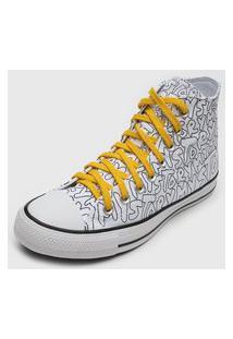 Tênis Converse Chuck Taylor All Star Branco/Amarelo