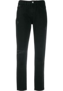 Philipp Plein Calça Jeans Boyfriend Statement - Preto