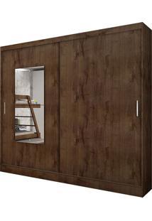 Guarda Roupa Ônix 2 Portas Com Espelho Canela