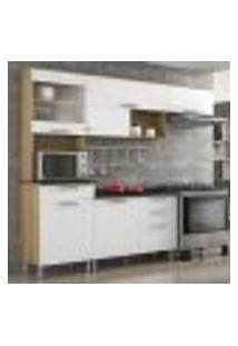 Cozinha Compacta Clean 6 Pt 4 Gv Branco E Preta