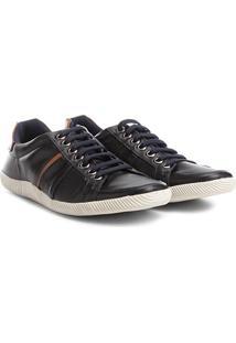 Sapatênis Couro Shoestock Recorte Masculino - Masculino-Marinho