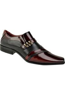 Sapato Social Constantino Masculino - Masculino-Vermelho+Preto
