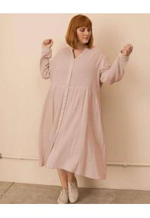 Vestido Chemise Alícia Plus Size Rosa-Gg Rosa