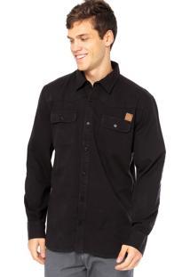 Camisa Manga Longa West Coast Worker Preta