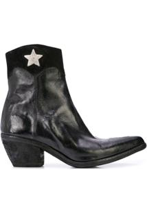 Madison.Maison Star Detail Ankle Boots - Preto