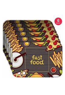 Jogo Americano Love Decor Wevans Fast Food Kit Com 6 Pçs
