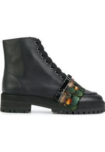 Rochas Ankle Boot De Couro - Preto