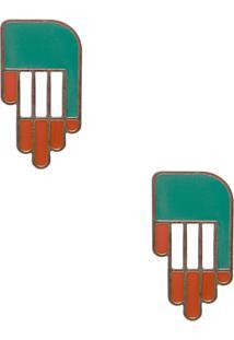 Brinco Feminino Clap - Verde