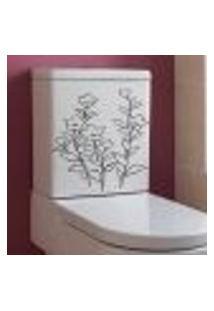 Adesivo Decorativo Para Banheiro Floral Encanto