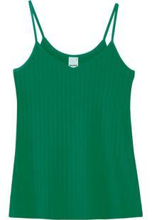 Blusa Verde Justa Em Viscose