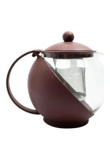 Cafeteira Chaleira Infusáo Multifuncional Vidro Café Chá Inox 1.250 Ml