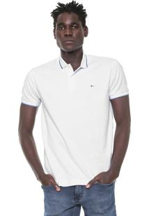 Camisa Polo Aramis Regular Fit Branca