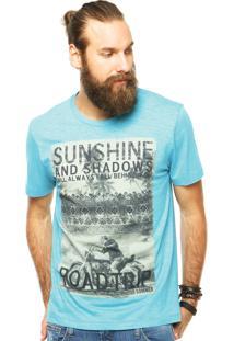 Camiseta Sommer Estampa Azul