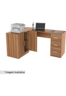 Mesa Com Balcão Office Plus- Castanho- 76,5X156,7X11Appunto Móveis