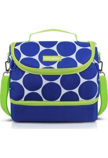 Bolsa Térmica Com 2 Compartimentos Jacki Design Dots Azul - Kanui