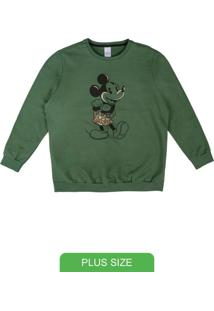Blusão Com Estampa Em Relevo Verde