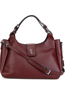 Bolsa Santa Lolla Handbag Riscada Feminina - Feminino-Vinho