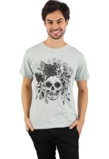 Camiseta Lat Caveira Masculina - Masculino