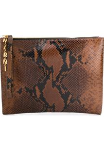Marni Clutch Animal Print - Marrom