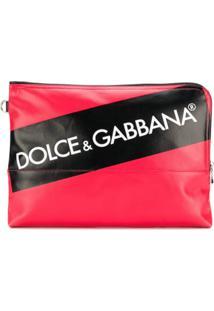 Dolce & Gabbana Bolsa Carteira Com Logo - Vermelho