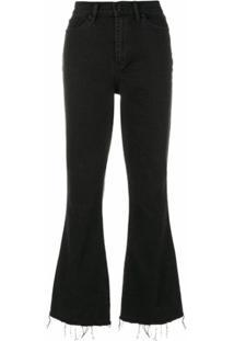 Tory Burch Calça Jeans Cropped Flare - Preto