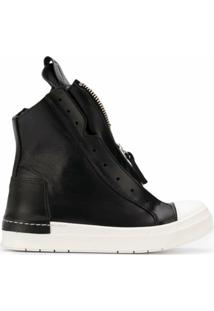 Cinzia Araia Zipped High Top Sneakers - Preto