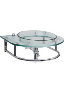 Gabinete Para Banheiro De Vidro Verdi Astra Gp-V Transparente