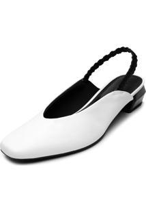 Scarpin Usaflex Liso Branco