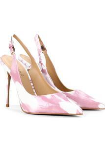 Scarpin Couro Carrano Chanel Salto Alto - Feminino-Rosa