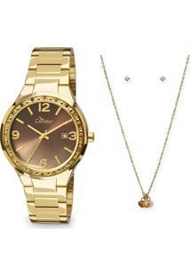 Kit Relógio Feminino Condor Co2115Upk4M