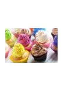Painel Adesivo De Parede - Cupcakes - Confeitaria - 1168Pnp