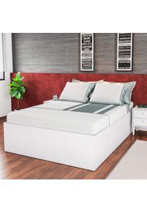 Cama De Casal Com 4 Portas Tókio Quarto Art In Móveis Branco