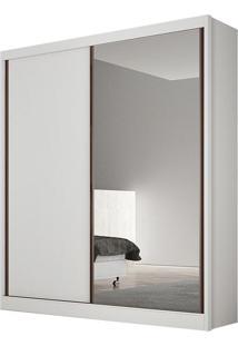Guarda Roupa Virtus 2 Portas Com Espelho Branco