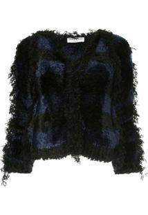 Sonia Rykiel Jaqueta Listrada De Tweed - Azul