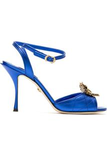 Dolce & Gabbana Sandália Com Abertura Frontal E Aplicação - Azul
