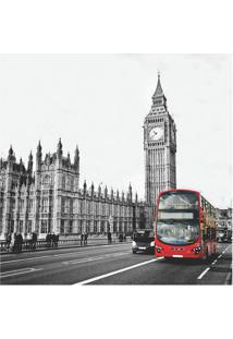 Placa Decorativa Big Ben- Preta & Cinza- 25X25Cmkapos