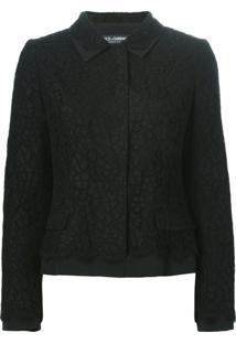 Dolce & Gabbana Casaco Com Renda - Preto