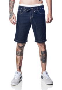 Bermuda Nineclouds Skateboards Jeans Deep Blue Azul