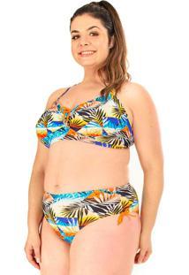 Biquini Plus Size Sem Bojo Acqua Rosa Beach