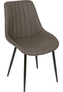 Cadeira Florenã§A- Cafã© & Preta- 84X50X42,5Cm- Oror Design