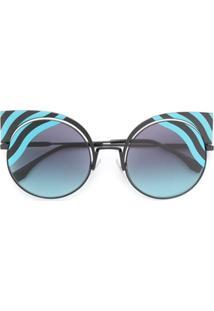 Fendi Eyewear Óculos De Sol  Hypnoshine  - Preto 8d58f04619