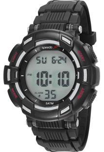 Kit De Relógio Digital Speedo Masculino + Porta Objetos - 81183G0Evnp2 9600546 Preto