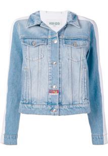 Kenzo Jaqueta Jeans Bicolor - Azul