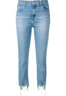 J Brand Calça Jeans Rasgada - Azul