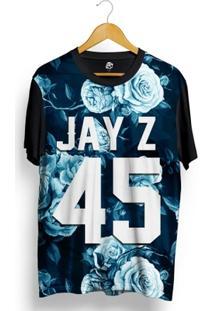 Camiseta Bsc Jay Z 45 Blue Rose Full Print - Masculino
